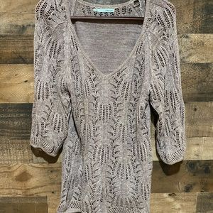 Maurices XL Brown Knit Top Womens